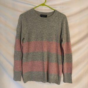 Banana Republic Gray and Pink Filpucci Sweater